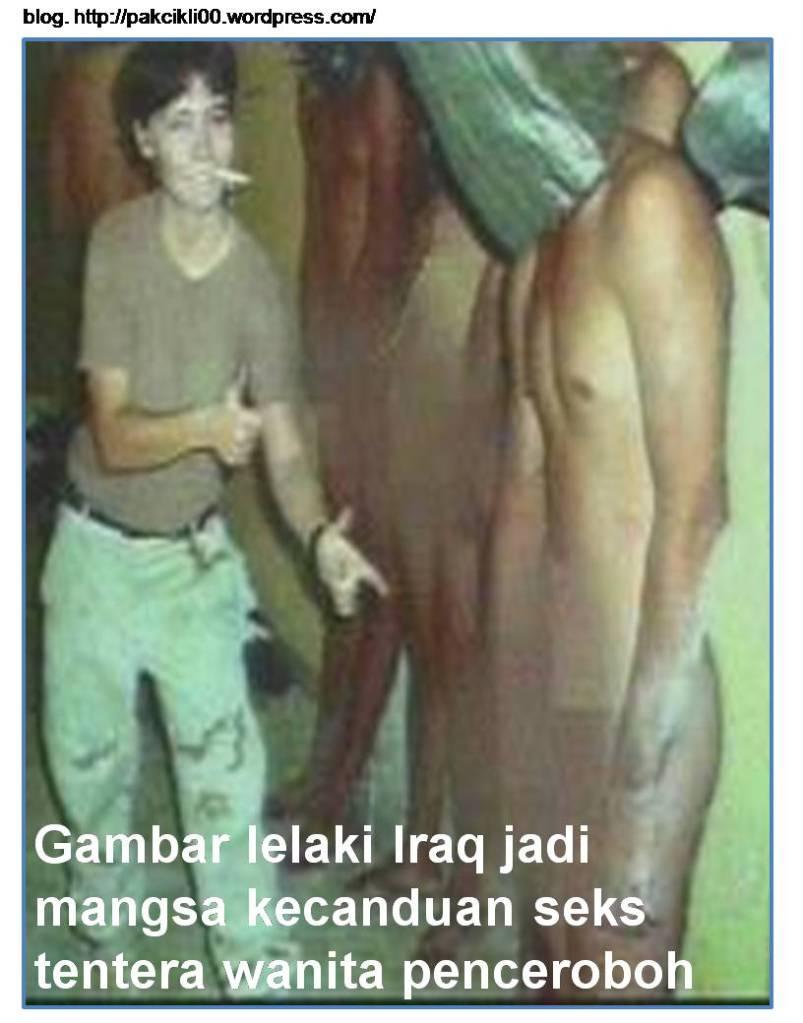 Gambar lelaki Iraq jadi mangsa kecanduan seks tentera wanita