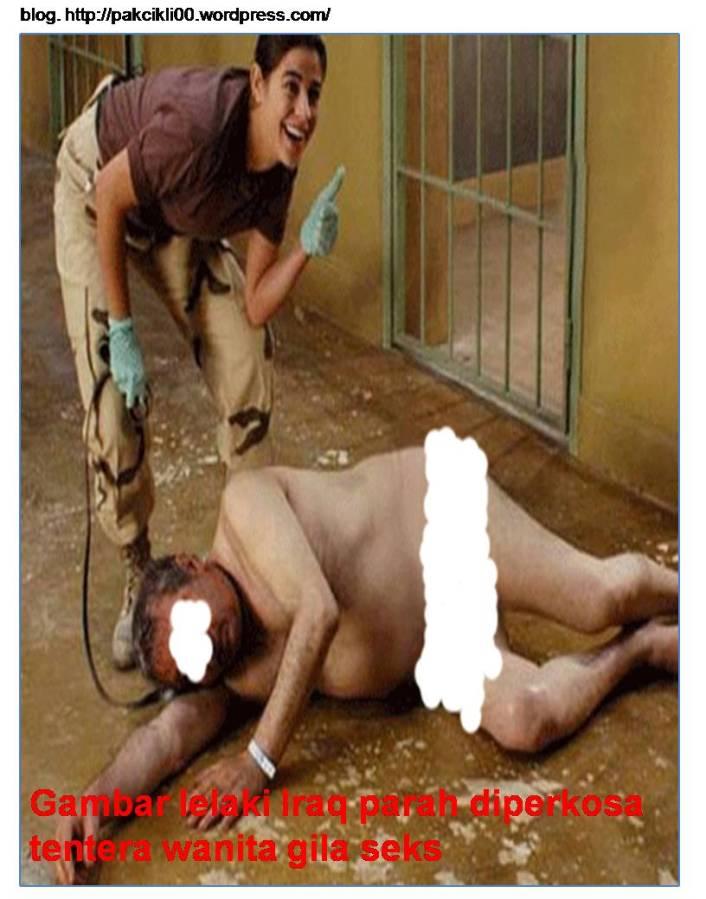 Gambar lelaki iraq parah diperkosa tentera wanita gila seks