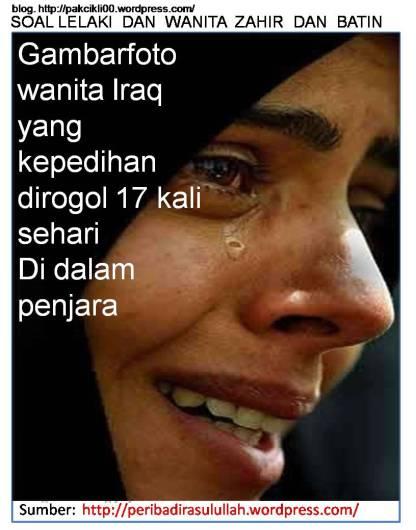 Gambarfoto wanita Iraq yang kepedihan dirogol 17 kali sehari di dalam penjara