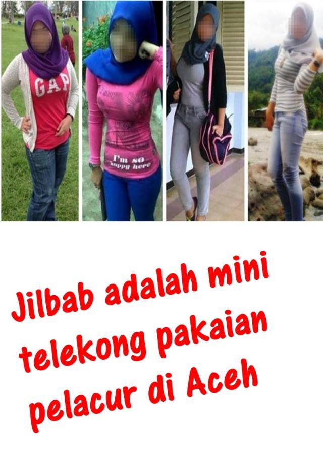 Jilbab adalah mini telekong
