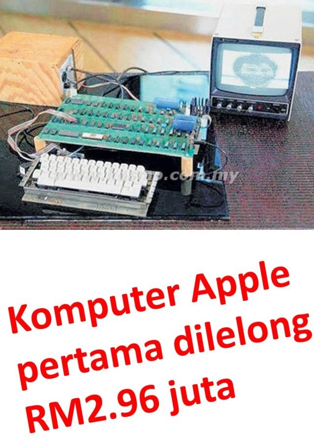 Komputer Apple pertama dilelong